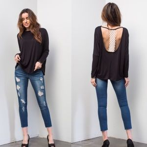 ONE LEFT! Open Back Top